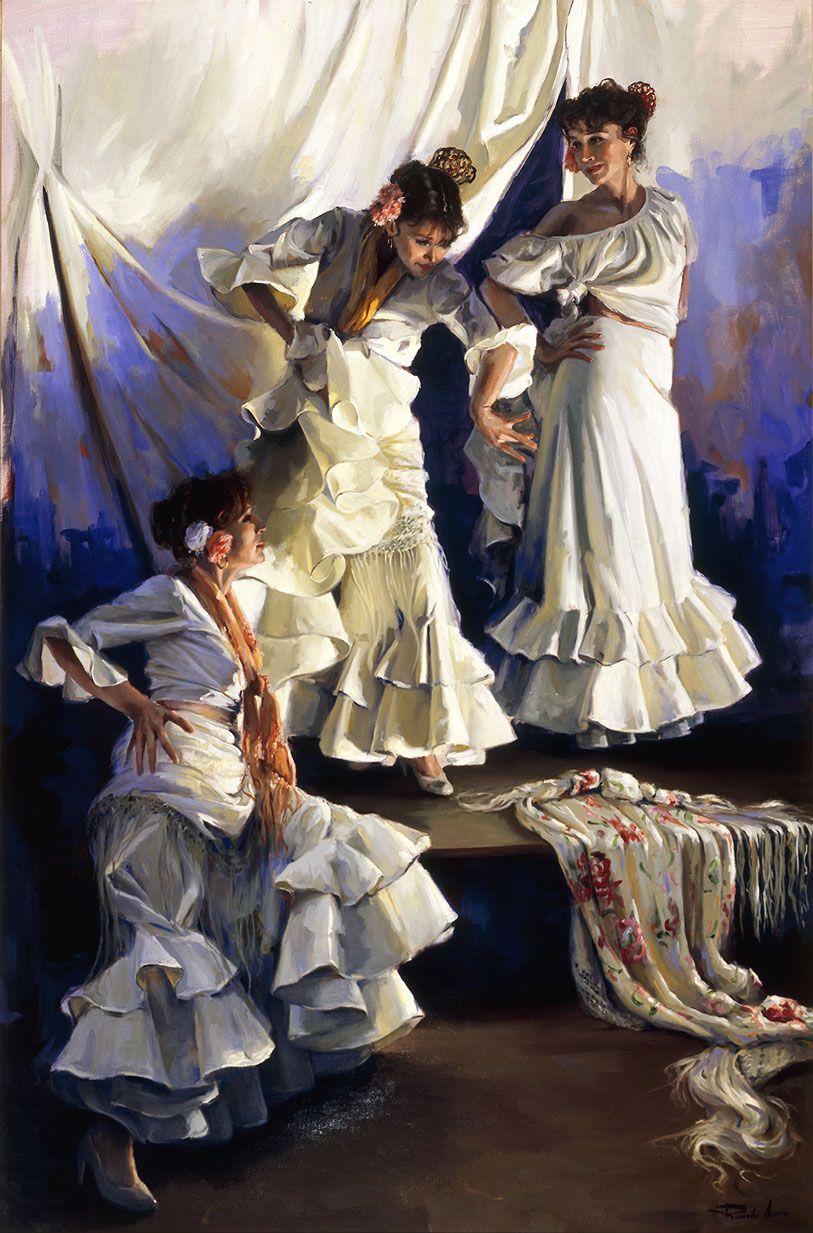 Ricardo-Sanz-Flamencas-ensayando-146X97cms