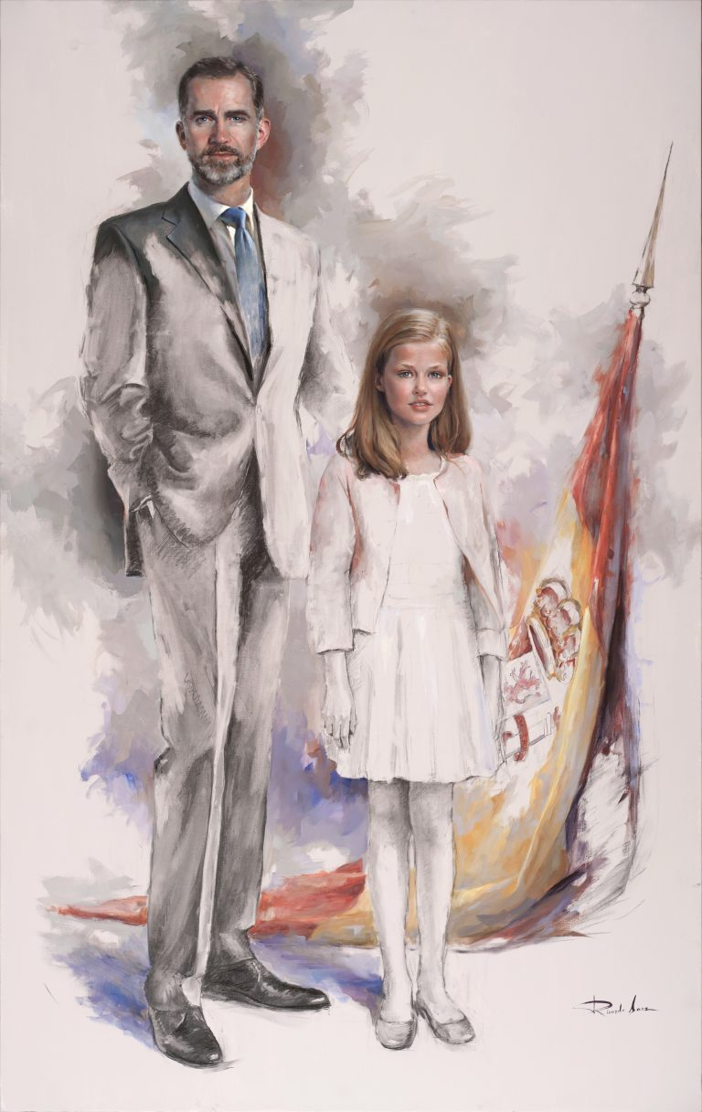 HM. King Philip VI with HRH. The Princess of Asturias